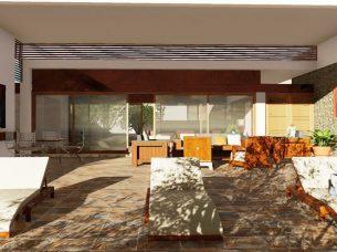 Render dettaglio solarium Casa Altabrisa 24