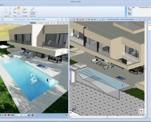 Ulteriore Vista 3D e sezione piscina Park House