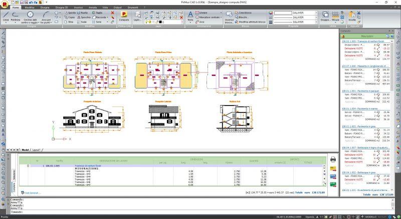 Interfaccia CAD PriMus CAD