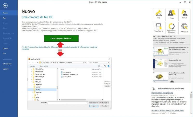 importazione modello BIM in formato IFC