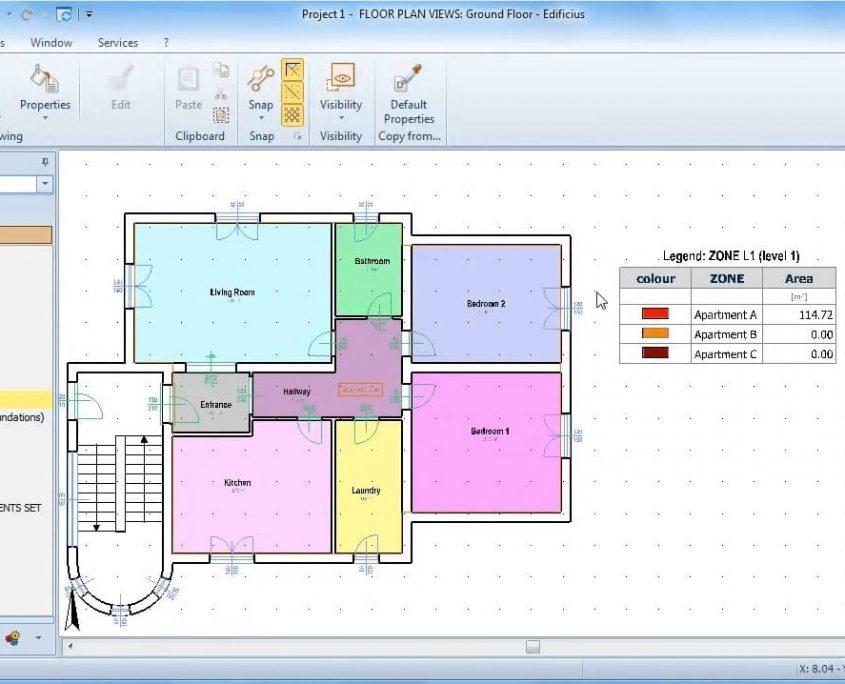 Zone: vista tabella metratura unità immobiliare