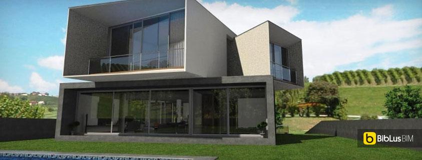 La progettazione architettonica con un software bim casa san roque biblus bim - Progettazione esterni casa ...