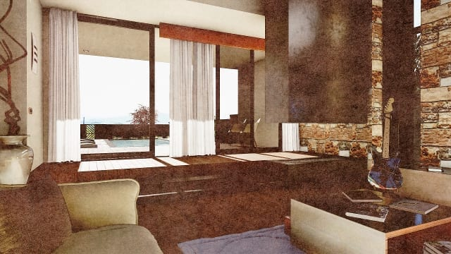 C-House area relax multimedia_Edificius_BIM