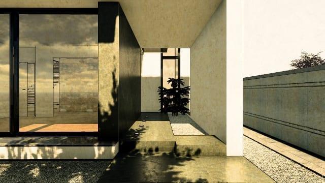C-House dettaglio spazi esterni_Edificius_BIM