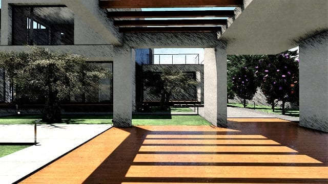 C-House patio depandance_Edificius_BIM