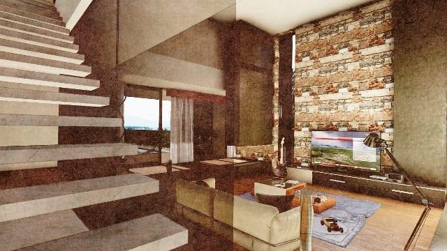 C-House scala accesso zona notte_Edificius_BIM