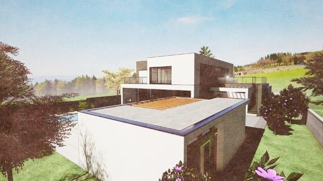 C-House vista esterna depandance_Edificius_BIM