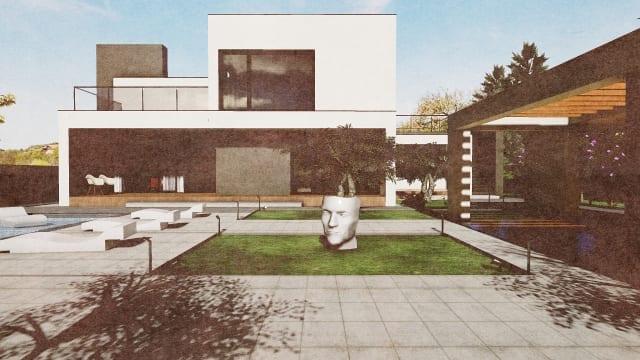 C-House vista esterni_Edificius_BIM