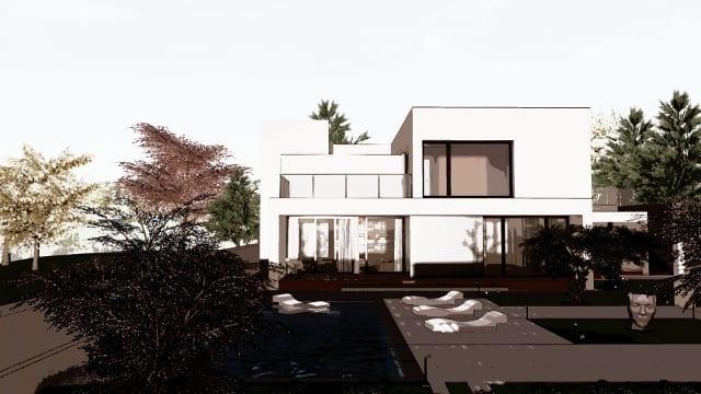 C-House vista solarium e piscina_Edificius_BIM