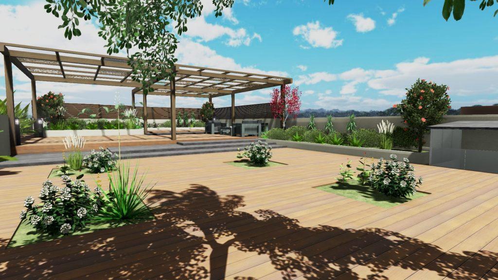 Come realizzare un tetto giardino con un software bim il for Rendering giardino
