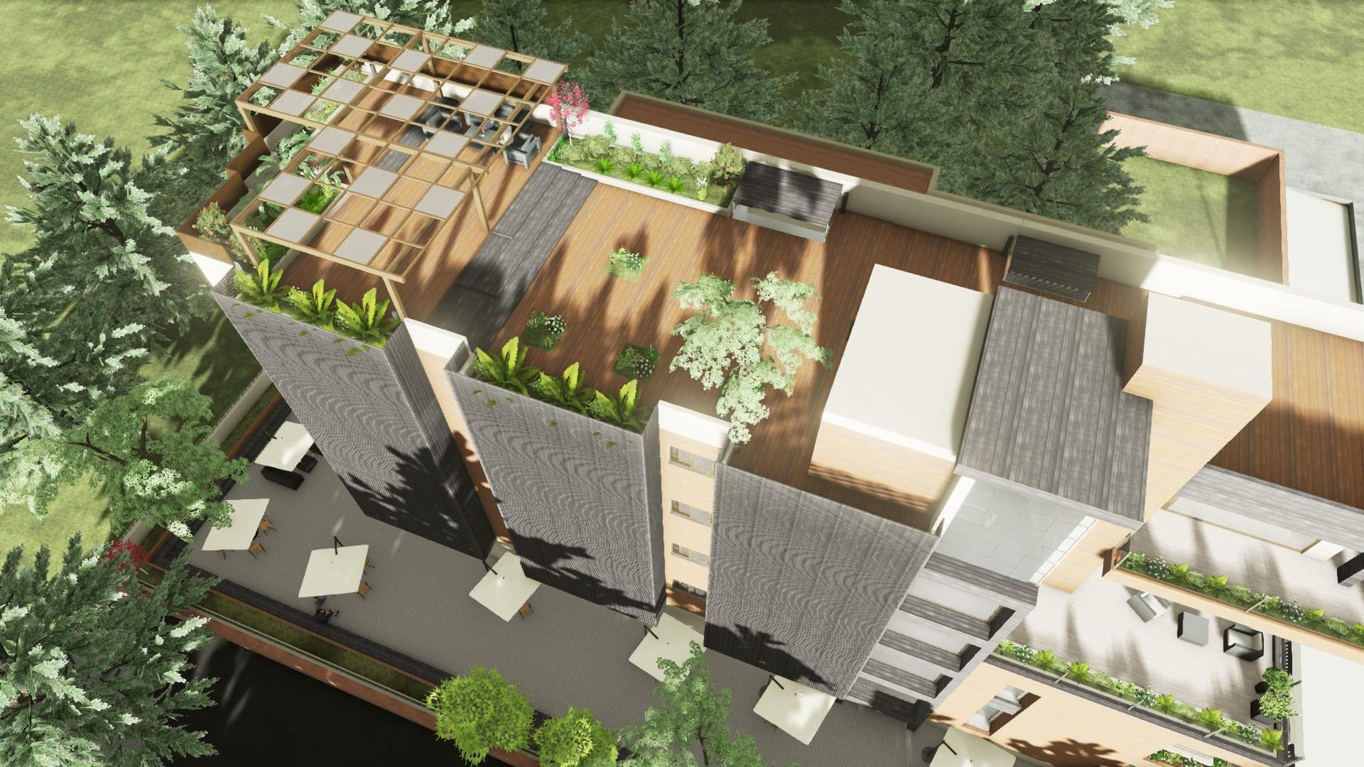 Come realizzare un tetto giardino con un software bim il - Giardino sul tetto ...