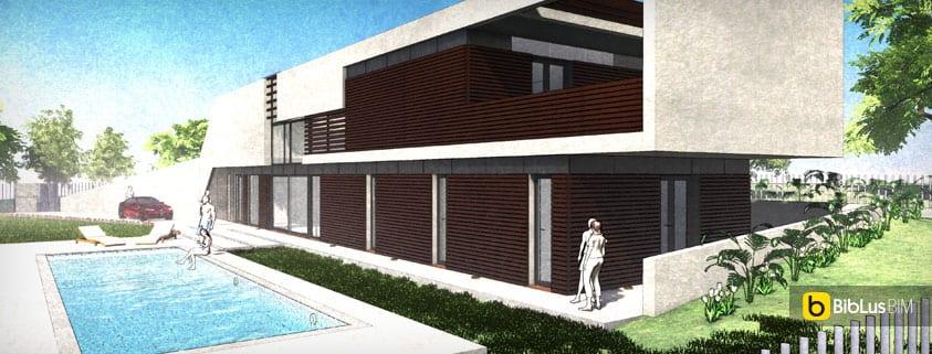 il progetto di casa roncero modellato con un software bim