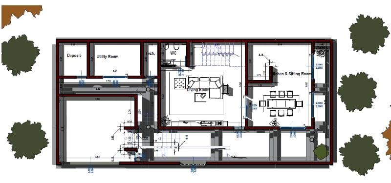 Progettare una casa unifamiliare con un software bim casa for Software di piano di pavimento del garage