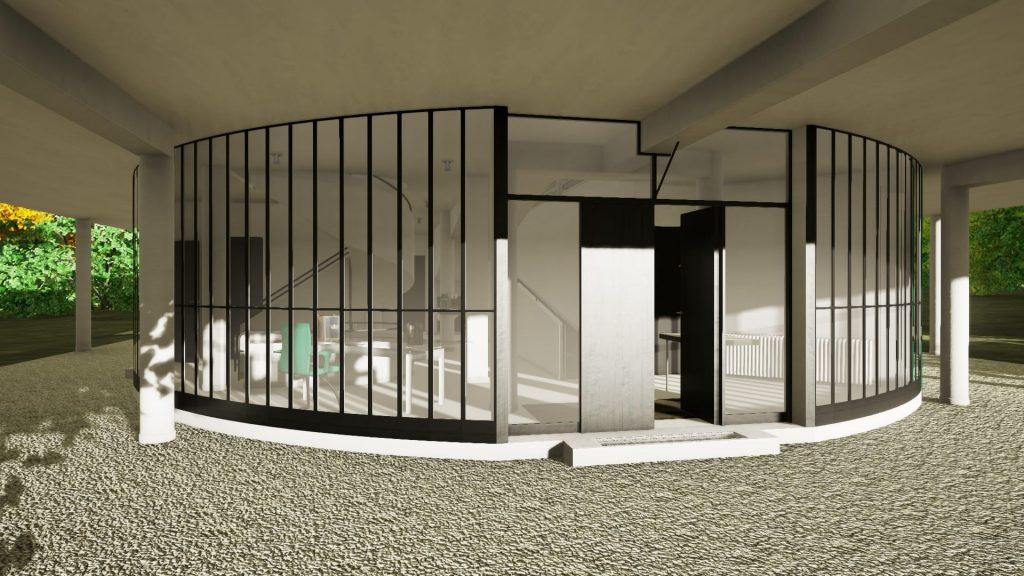 Interni Di Villa Savoye : Villa savoye progettata con un software bim parte biblus bim