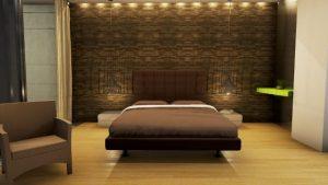 Camera da letto Country House in Marfino | BibLus-BIM