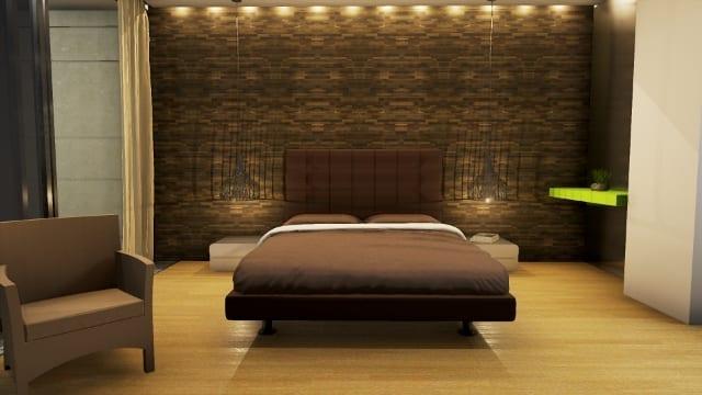 Progettazione architettonica di una residenza di campagna country house in marfino biblus bim - Camera letto country ...