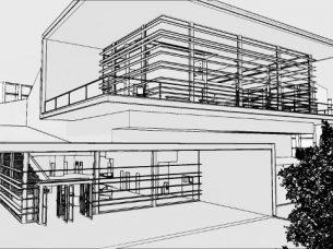 Facciata con effetto visuale Daegu Gosan Public Library con Edificius