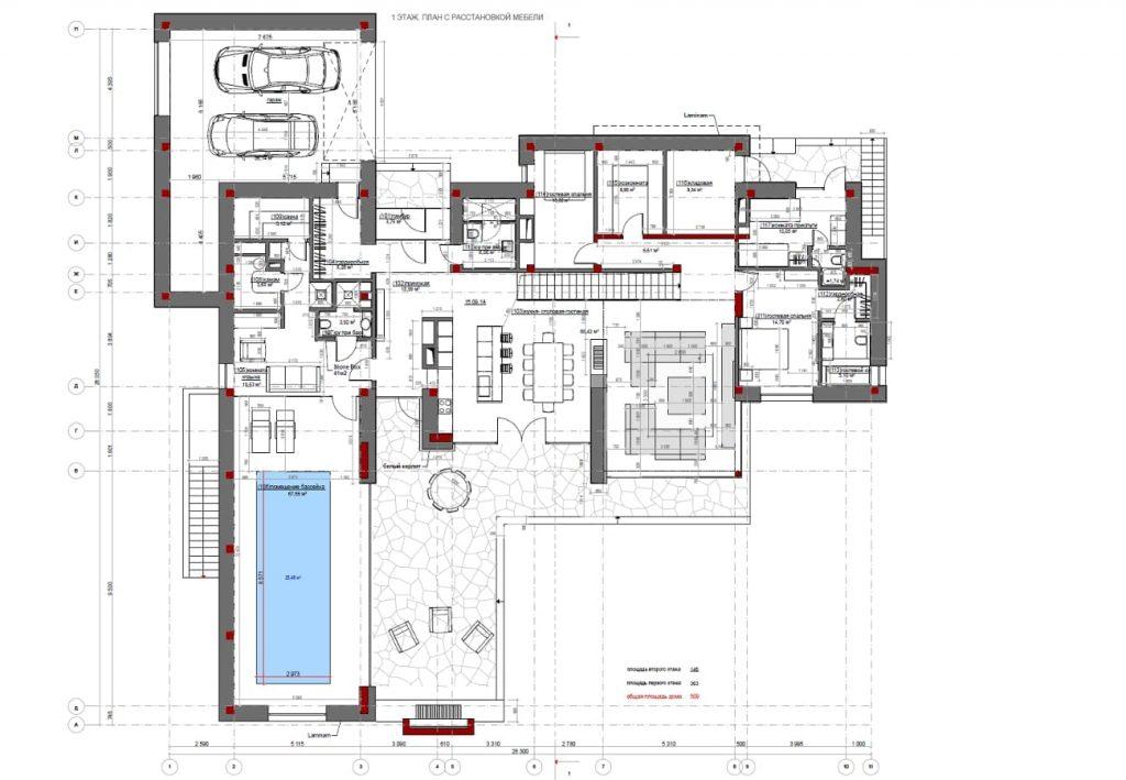 Progettazione architettonica di una residenza di campagna for Piani di una casa a un piano con seminterrato di sciopero