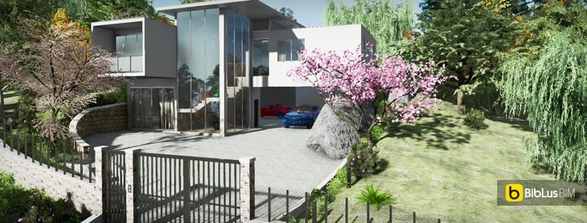 Realizzazione piazzale esterno con un software BIM Edificius-BIM