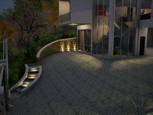 Render realizzazione scala esterna Edificius BIM 2