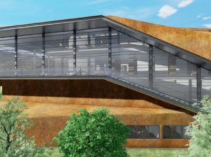 Scala esterna Daegu Gosan Public Library con Edificius