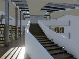 Scale Daegu Gosan Public Library con Edificius