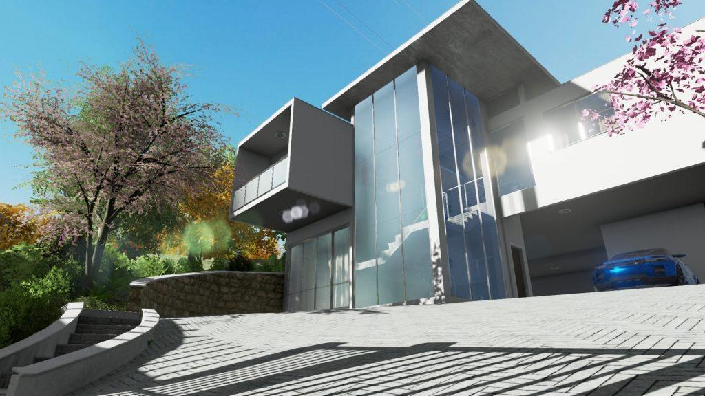 Realizzazione di un piazzale esterno con un software bim for Progettazione interni online gratis