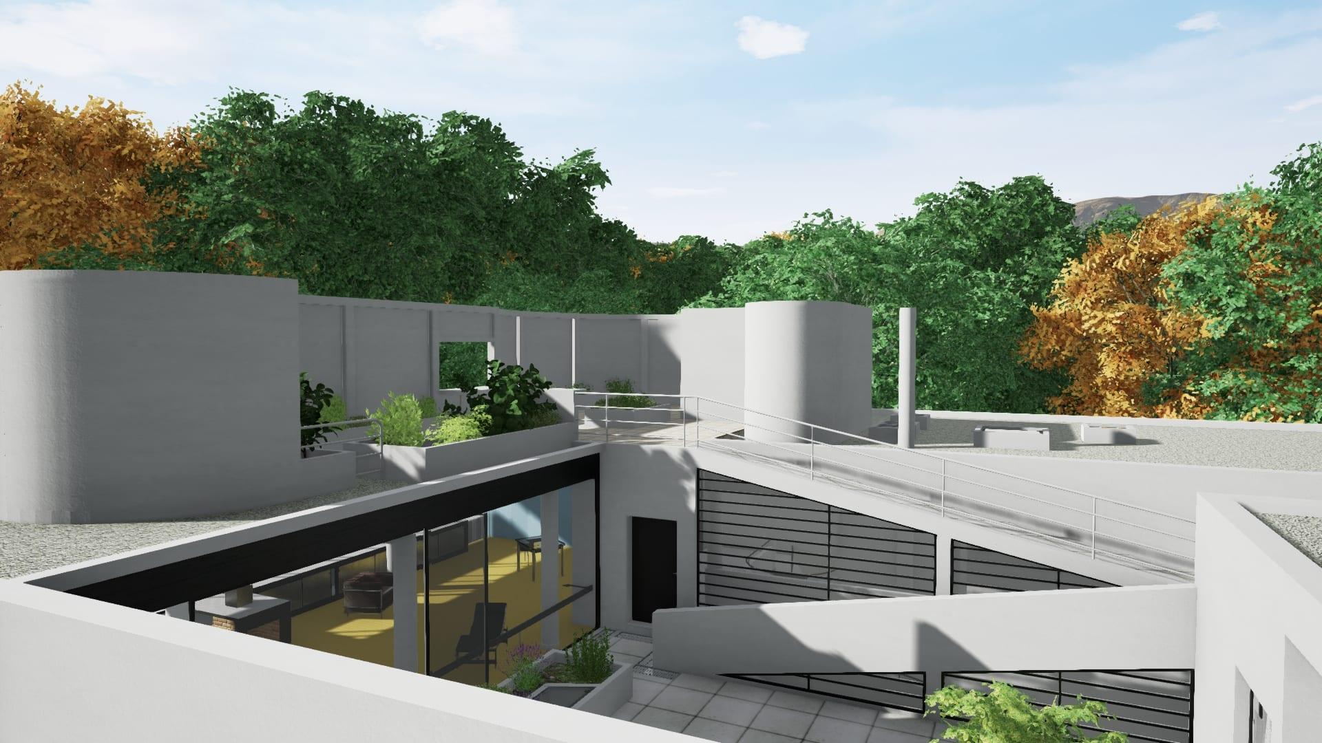 Villa savoye progettata con un software bim parte 3 for Software progettazione esterni