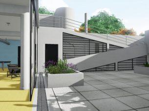 Villa Savoye render Edificius BIM 20