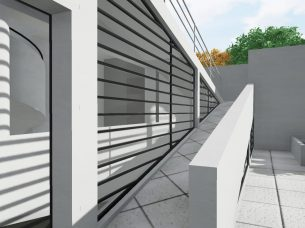 Villa Savoye render Edificius BIM 8