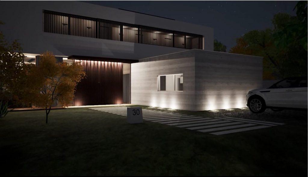 Progettare l 39 illuminazione esterna di un edificio con un for Progettare esterno casa online