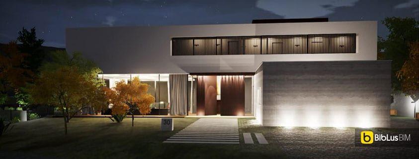 Progettare l 39 illuminazione esterna di un edificio con un - Software per progettare casa ...