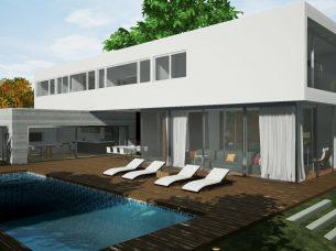 Casa en Los Cisnes Edificius BIM Render 1