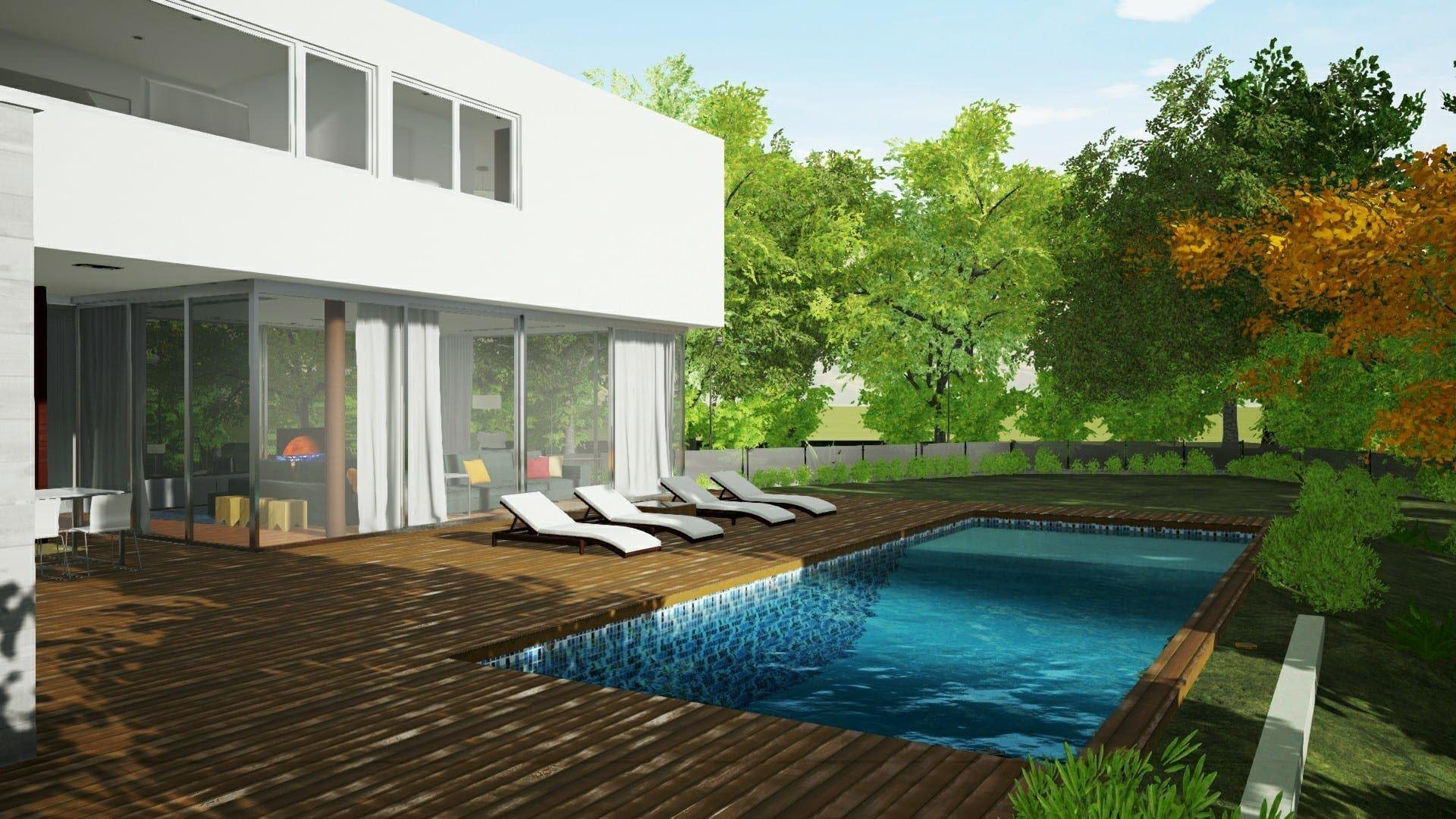 Progettare Il Giardino Software Gratis : Modellare una piscina a profondità variabile con un software bim