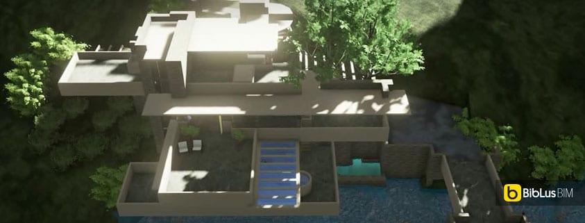 La casa sulla cascata progettata con un software bim for Wright la casa sulla cascata