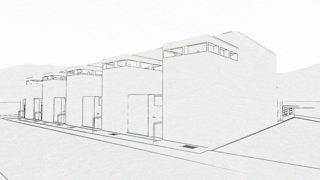 Case a schiera progetti ed esempi con piante planimetrie for Case progettate da architetti