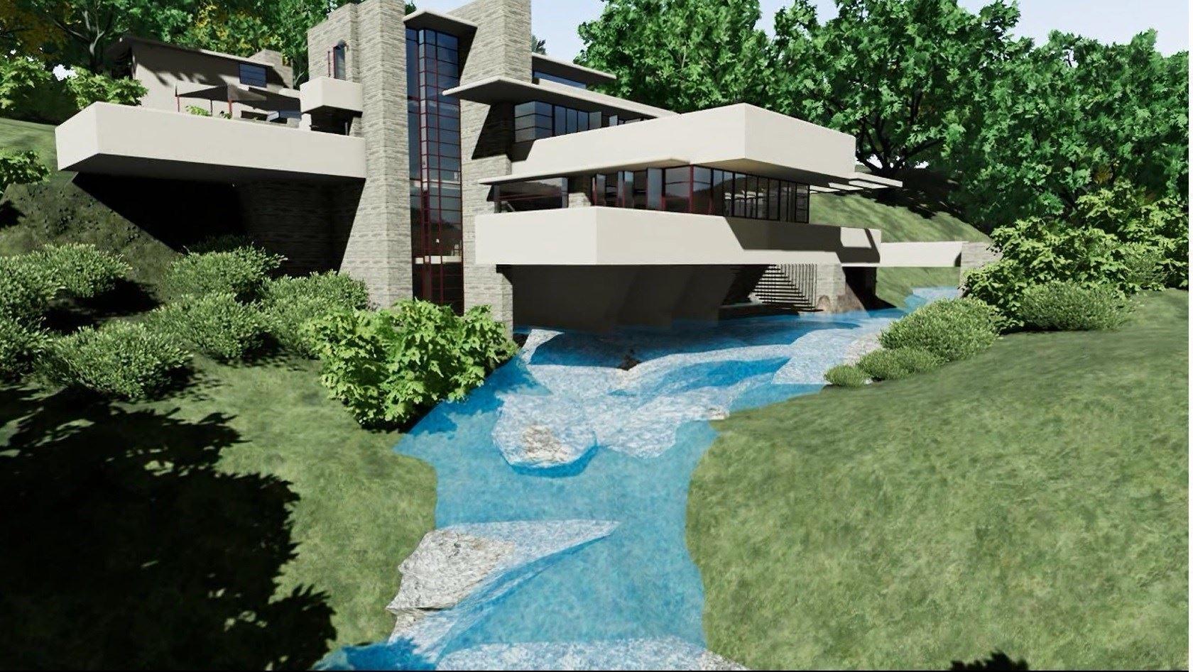 Realizzare una facciata vetrata con un software bim il for Frank lloyd wright piani casa della prateria