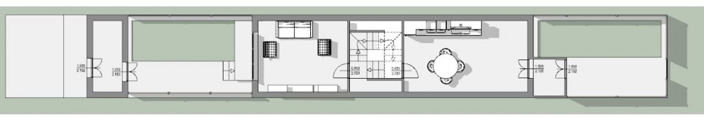 Esempio-modulo-case-a-schiera-pianta-piano-terra-progetto-Passau-Neustift-Opera-di-Schroeder-e-Widmann