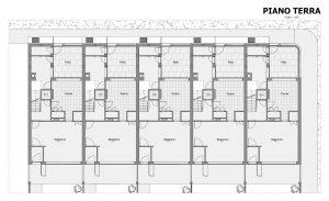 Case a schiera progetti ed esempi con piante planimetrie for Pianta villetta a schiera