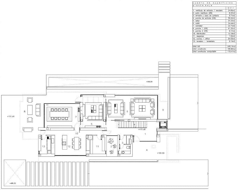 Esempio di progetto realizzato con un software bim per l for Progetto piano terra