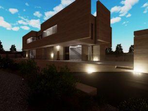 Accesso vialetto esterno_software BIM architettura Edificius