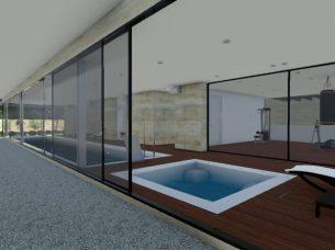 Area relax e palestra_software BIM architettura Edificius