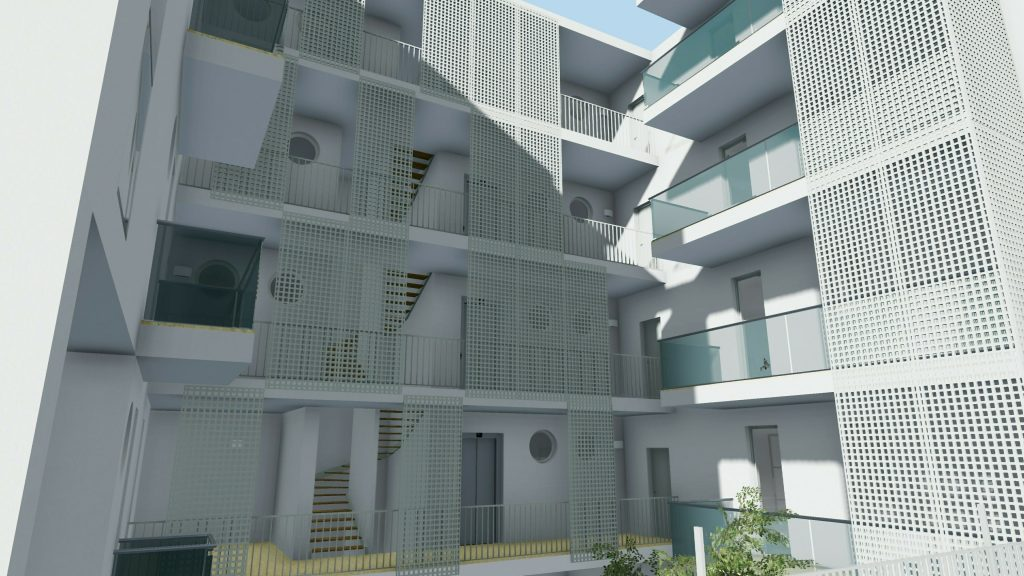 Casa-di-ringhiera esempio-progettazione-moderna-realizzato-a-Lecce-rendering-prodotto-con-Edificius