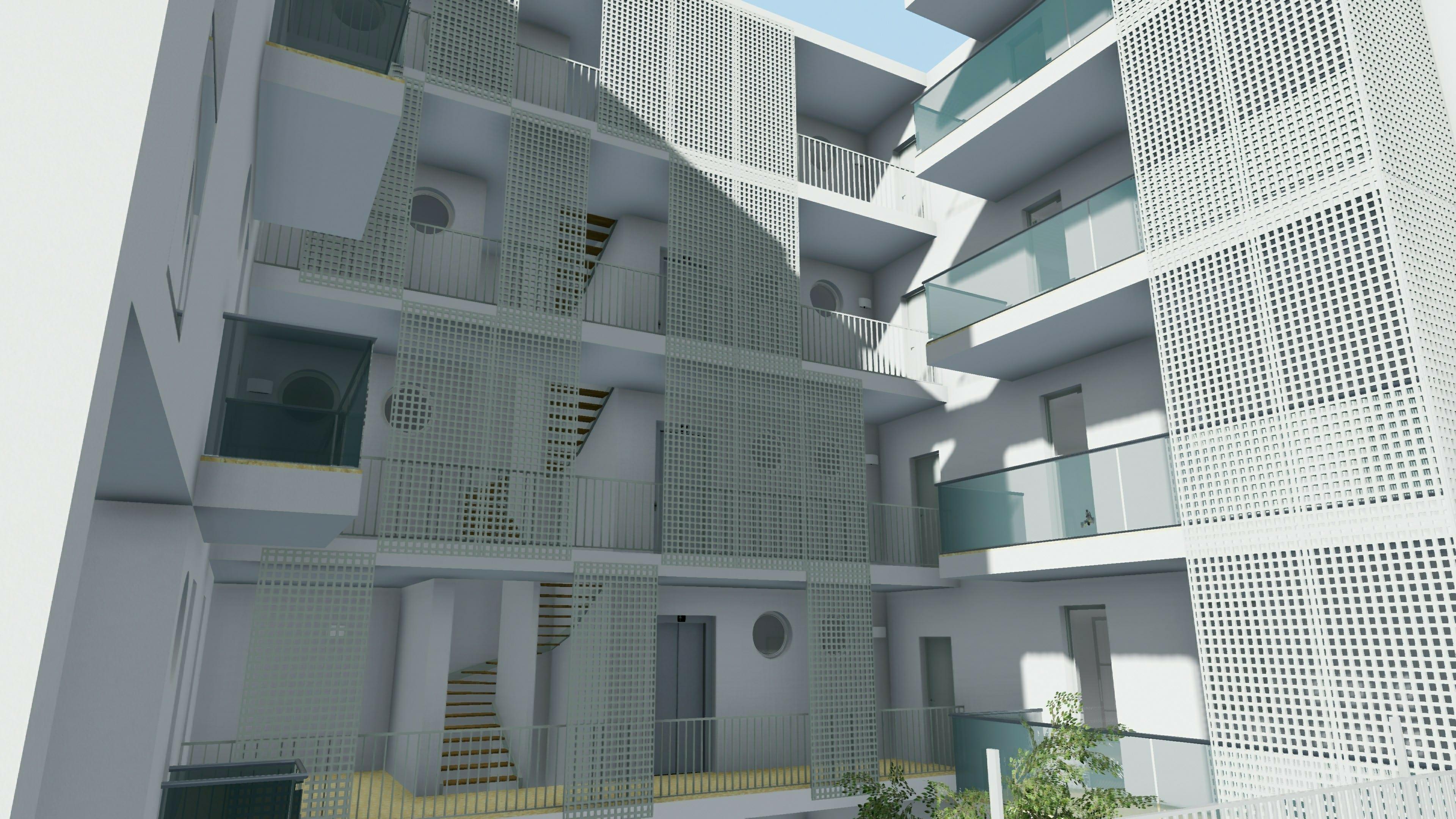 Casa di ringhiera o a ballatoio progetti famosi con for Moderna casa di cemento