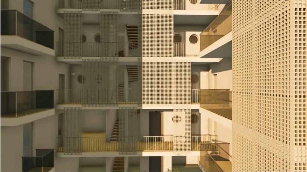 Casa-di-ringhiera-a-Lecce-rendering-della-scala