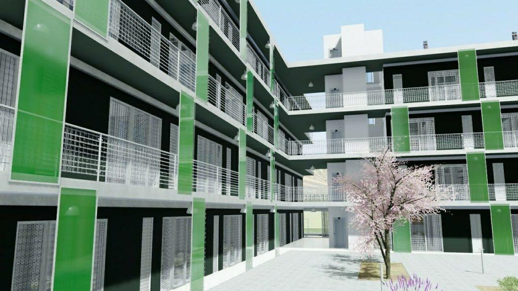 Casa-di-ringhiera esempio-progettazione-moderna-realizzato-a-Lleida-rendering-prodotto-con-Edificius