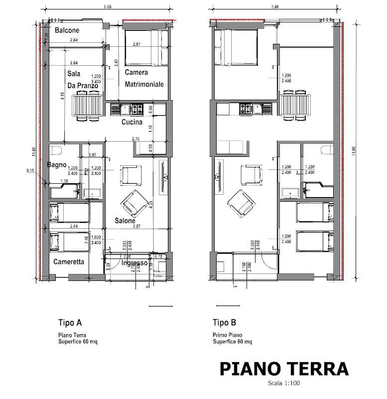 Casa di ringhiera progetti famosi disegni e modelli 3d - Disegno pianta casa ...