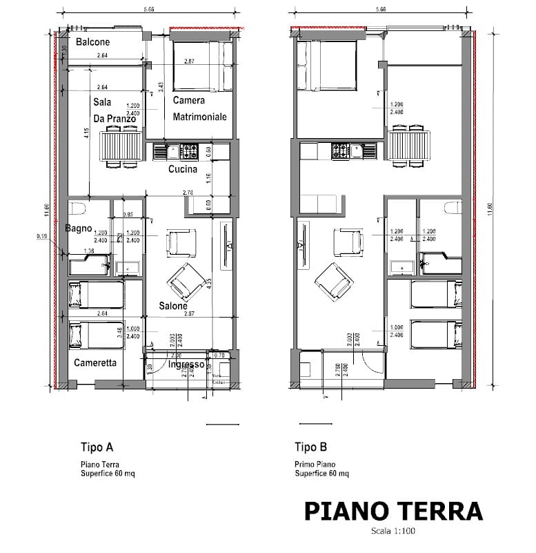Casa-di-ringhiera-a-Lleida-pianta-singoli-appartamenti-tipologia-A-tipologia-B