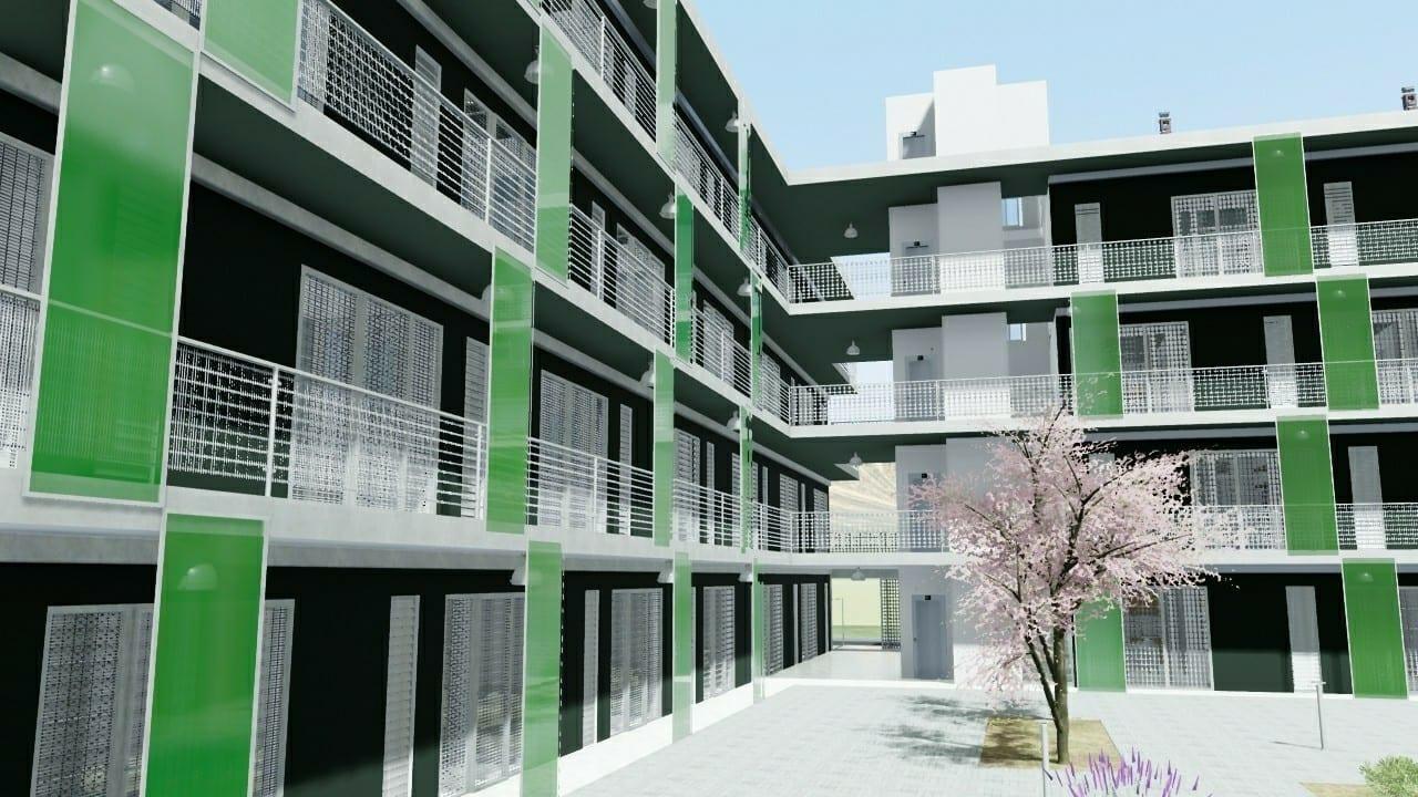 Casa di ringhiera progetti famosi disegni e modelli 3d for Case di architetti