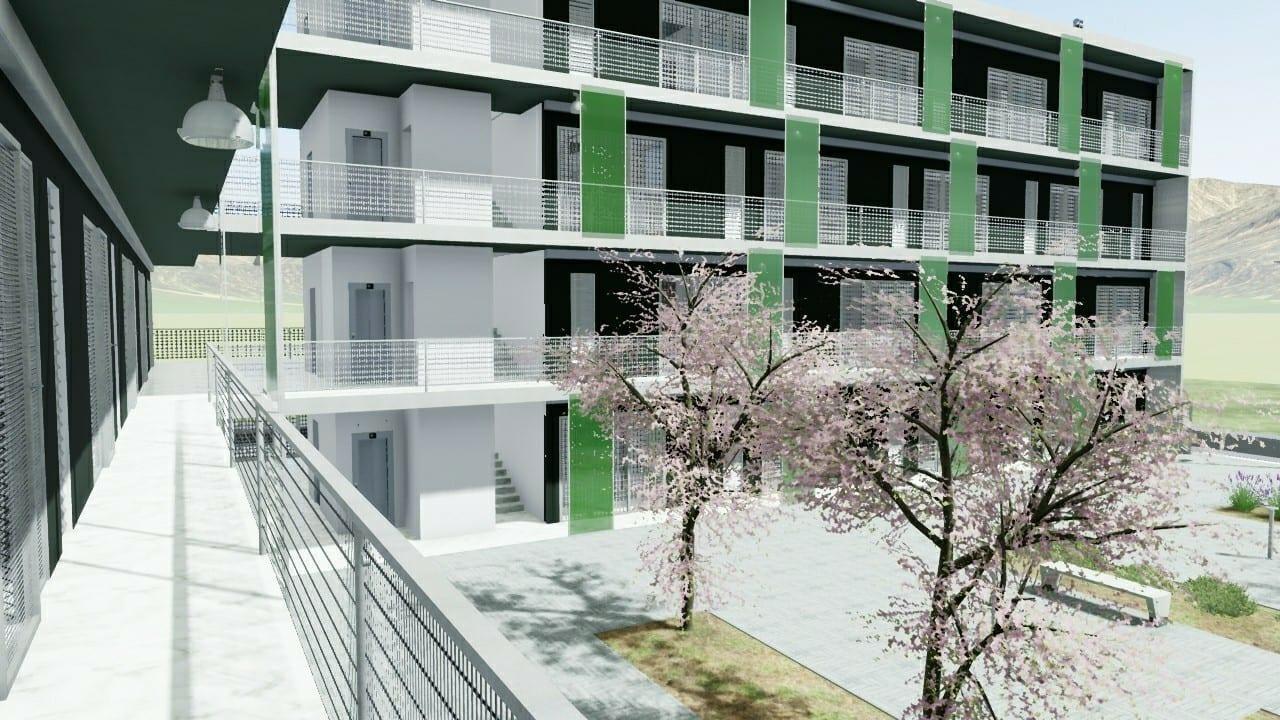 Casa-di-ringhiera-a-Lleida-particolare-esterno